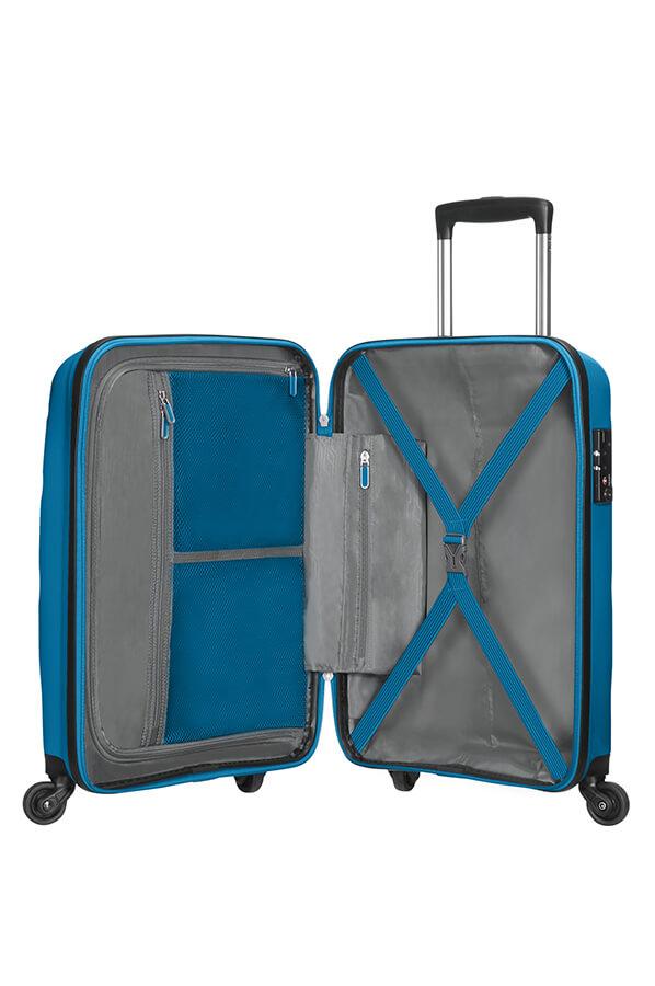 Ubrugte American Tourister Bon Air Kuffert med 4 hjul 55cm Seaport Blue XS-32